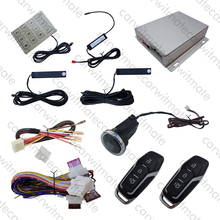 Hopping Code PKE Car Alarm System Long Push Button Remote Start Stop Engine Remote Open Trunk For All DC12v Cars