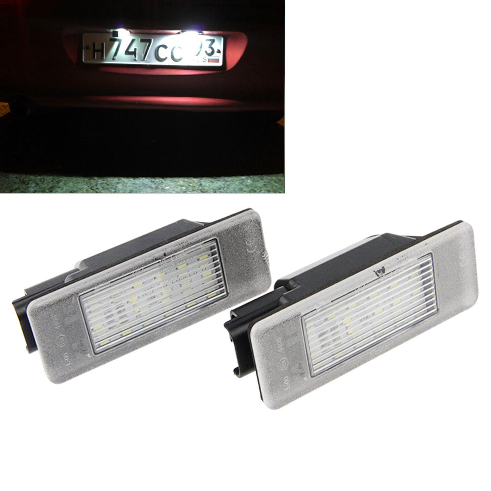 2017 Brand New 2 x LED SMD License Plate Light lamps For Peugeot 106 207 307 308 406 407 508 607 806 807 White<br><br>Aliexpress