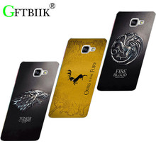 "Cute Cartoon Case For Samsung Galaxy A5 2016 A5100 A510F 5.2"" Hard Plastic Case Fashion Printed Football Cover Game of Thrones 7"