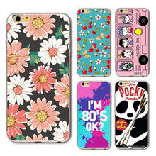 3D Painting Cell Phone Protective Cover For IPhone 6 6plus 6s 7 7s 7Plus Case 3D Cartoon Personality Flower Phone PC Hard Case
