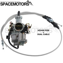 Performance KEIHIN PZ30 30 mm Carburetor Power Accelerating Pump & Dual Cable KIT For 200 250 cc motorcycles bikes