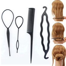 Tomtosh 4Pc/Set Susan' Hair Twist Styling Clip Stick Bun Maker Braid Tools Hair Accessories Hot for Women Lady Girls