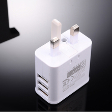 UK Plug True 3A 3 Ports USB Power AC Wall Charger Travel Adapter for iphone IPAD AIR MINI Samsung S7 S6 S5 NOTE 3 4 5 200pcs/lot