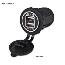 WATERWICH Waterproof Dual USB Car Charger Power Adapter 5V 4.2A Socket Charger For iPhone 5 6 6S Ipad Samsung Tablet Car-Charger(China)