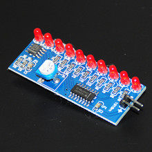 10pcs LED Light Chaser Water Flowing Light Electronic DIY Kits Module NE555 CD4017 Driver Water Powered NE555 Circuit Fast Cycle(China)