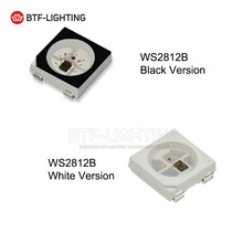 WS2812B LED Chip 10~1000pcs 5050 RGB SMD Black/White version WS2812 Individually Addressable Digital 5V
