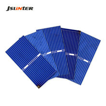 JSLINTER 100pcs Cheap Solar Cell High Efficiency Polycrystalline DIY Solar Panel Small Battery Charger China 0.5V 0.25W 52x26 mm(China)