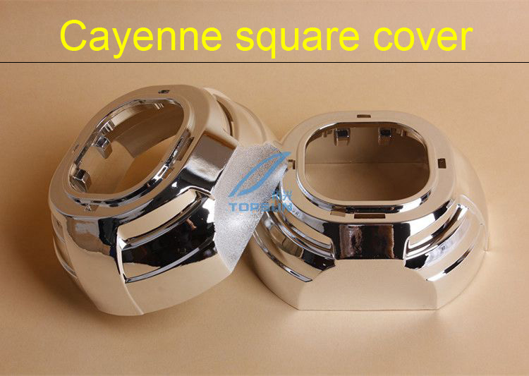 2 PIECES Cayenne square Covers mask with card buckle 3INCH PROJECTOR LENS SHROUD For Car Headlight Q5,Hella Lens,Good Quality<br><br>Aliexpress