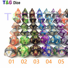 12 Colors Mix Dice DND Die Toys For Adults Kids Plastic Cubes Special Birthday Gift(China)