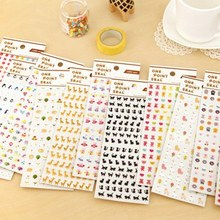 1 Pcs Cartoon Animals Mini Sticker Mobile Phone DIY Decorative Stickers for Diary Scrapbook Book Wall Decor Doodle Memo Pads