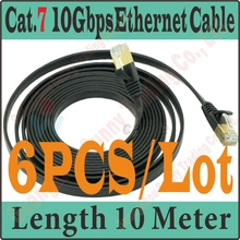Express Shipping New 30FT 10M CAT.7 CAT 7 Flat UTP 10Gbps Ethernet Network Cable RJ45 Patch LAN Cord wholesale, CAT7 Cable