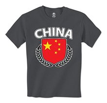 man t shirt China Flag Crest Olive Wreath Laurel Chinese Pride Mens T-Shirt