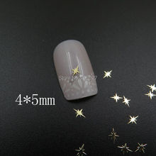 MS366-2 100pcs Gold Cute 4*5mm Shinny Metal Sticker Nail Art Metal Sticker Nail Art Decoration Non-adhesive Sticker(China)