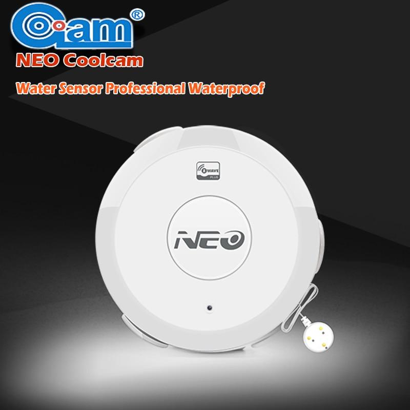 NEO COOLCAM Z wave Flood Water Leak Alarm Sensor Waterproof Sensor Z-wave Sensor Alarm Home Automation System EU/US Version<br>