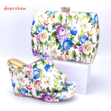 doershow Nice Looking African Women Matching Italian Shoe and Bag Set Italian Shoe with Matching Bag for Wedding Ladies  PYS1-6