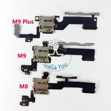 For HTC One M8/ M9/ M9+ M9 Plus Micro SD Memory Card Slot Socket Holder With Power On Off+Volume Button Flex Cable Repair Parts