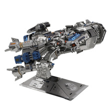 3D Metal Puzzle Star craft Terran Colorful Battle Cruise YM-M015 DIY 3D Metal Puzzle Kits Laser Cut Models Jigsaw Toys(China)