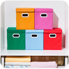 Non-woven Folding Cosmetics Storage Box Desktop Debris Classification Storage Box Toy Clothing Order Box