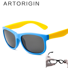 ARTORIGIN Polarized Sunglasses Kids Flexible Eyewear Square Frame Baby UV400 Sun Glasses Oculos De Sol Infantil AO2080(China)