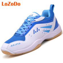 LoZoDo Plus Size 36-45 Brand Badminton Shoes Men Women Table Tennis Shoes High Quality Light Weight Indoor Sneakers Sport Shoes