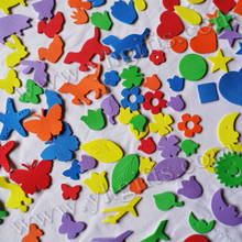 110PCS(1bag)/LOT,Mixed animal weather and all shape foam stickers,Kindergarten ornament,Early educational toy,OEM.Cheap.Kids toy(China)