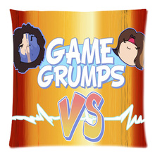 "Game Grumps DIY Throw Pillow Case Cushion Cover Sofa Home Car Decor 18""*18"" Two Side Free Shipping(China)"