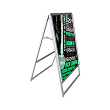 2017 Centch LED Illuminate A-frame Sidewalk Sign Portable Advertising Display Stand Resatuarant Menu Board Snap Aluminum Frame(China)