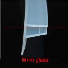 3 meters F shape silicone rubber shower door glass seal strip weatherstrip for 6mm glass(China)