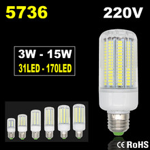 5736 Lampada LED Lamp 220V Corn Light Spot LED Bulb E14 Candle Spotlight Ampoule LED E27 Lamparas Chandelier Bombillas 3W 15W(China)
