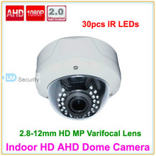 Lihmsek Top Quality 2.0 MP HD AHD Camera 1080P 2.8-12 mm Varifocal lens High-end Pearl White CCTV Vandalproof IR Dome Camera(China)