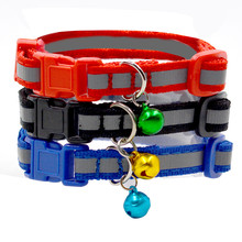 Adjustable Cute 3 Colors Pet Dog Leash Small Puppy Cat Nylon Leash Harness Collar Lead Reflective Collar Bell #620