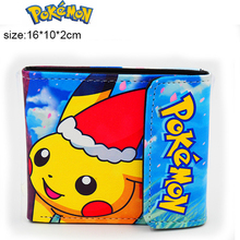 Japanese Anime Pikachu Pocket Monster Pikachu PU Short Wallet Purse Colorful Printing Type B