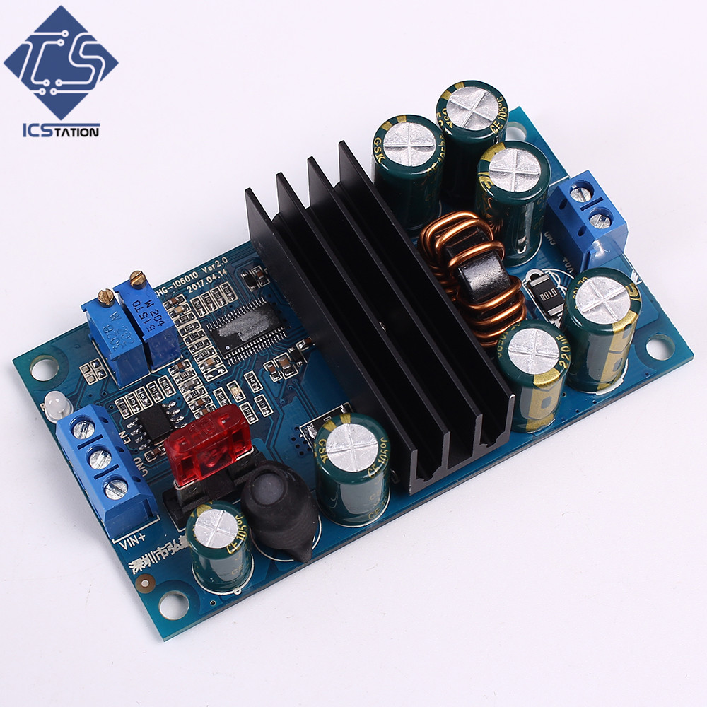 Auto Step-Up/Down Boost Buck Charing Module W/Indicator Lamp Overheat Protection Precise 10-60V 6A <br>