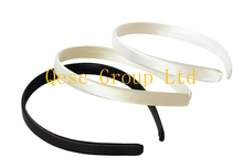 13mm Satin  Headband for sinamay fascinator hat .40pcs/lot. white,cream,black color.
