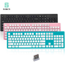 Light Mini Wireless Keyboard Tablet Power saving Laptop Office Computer Slim Mute Silent 104 keys Bluetooth Gaming Keyboard LOL