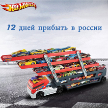 Hotwheels Truck Toy Storage Box Car Container Scalable Parking Floor Hot Wheels Transport Truck Toys Christmas's Day Gift CKC09(China)