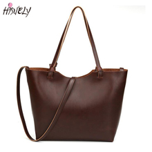 2017 Casual High quality leather bags new 2017 design women handbags vintage women shoulder bags large tote brown women bags hot