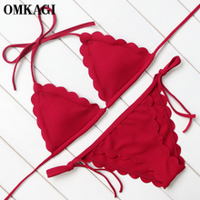 OMKAGI Brand Bikini 2017 Swimwear Women Swimsuit Bathing Suit Sexy Bikinis Set Push Up Swim Wear Swim Suit Beachwear New Design