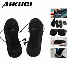 Factory Price winter Warming Outdoor Mules Clogs Activitis Shoes insoles USB Powered AA Battery electric heating(China)