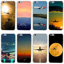 10GH Airplane Takeoff Flight Hard Transparent Painted Cover for iphone 4 4s 5 5s 6 6s plus 7 7 Plus