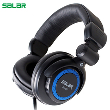 Salar A100 DEEP BASS Headphones Earphones 3.5mm Foldable Portable Adjustable Gaming Headset for Phones MP3 MP4 Computer PC(China)