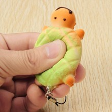10Pcs Universal 7cm Soft Mini Mobile Phone Bag Strap Cute Tortoise Bread Bun Charms With Rope Decor Gift Kids Toys Randomly(China)