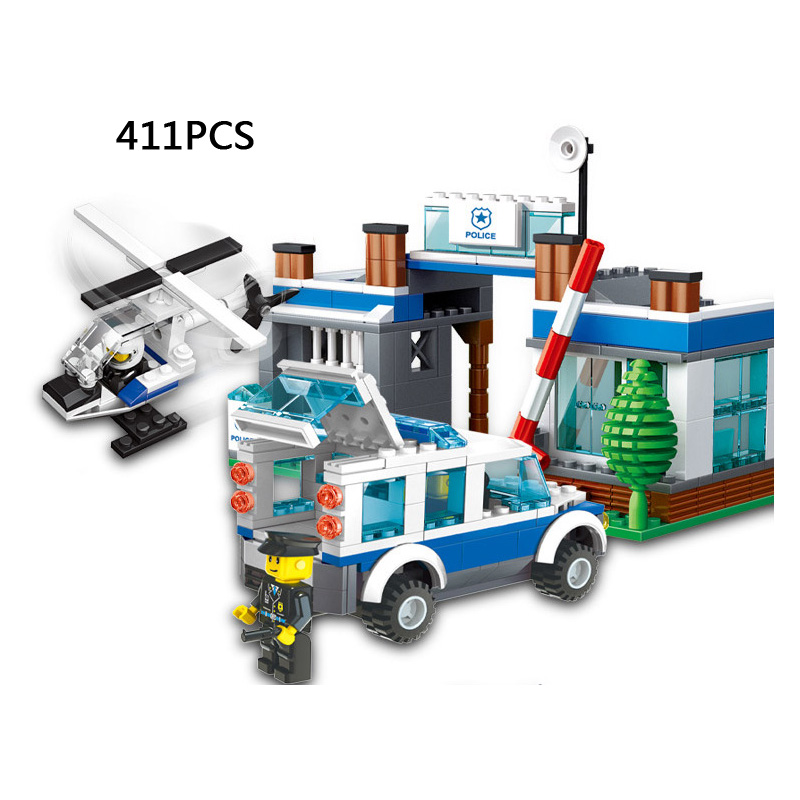 Forest Industry command station Super Police helicopter Building Blocks thief policeman bricks compatible.legoeinglys.city toys<br><br>Aliexpress