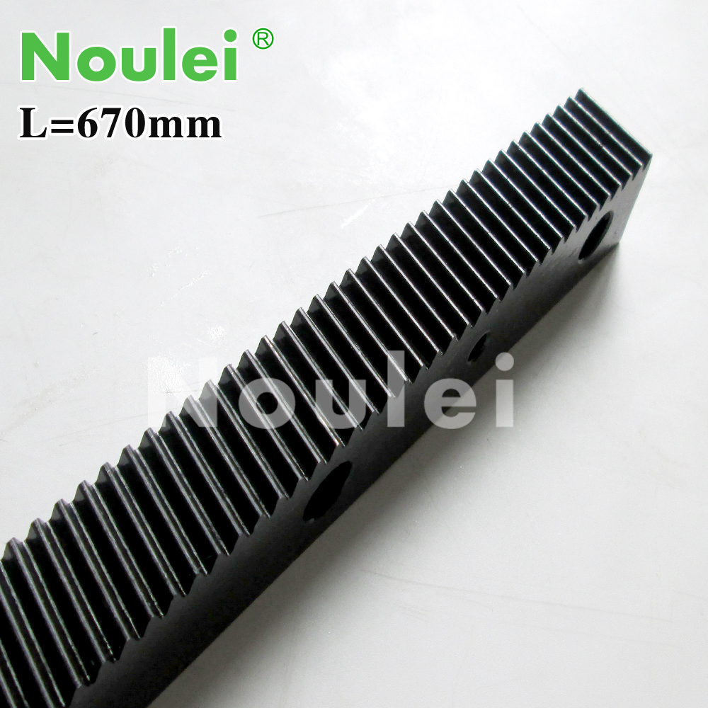 1.25 modulus helical teeth Gear Rack steel 670mm with Gear shaft / pinion high precision for cnc router parts<br>
