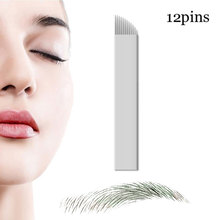 50 Pcs Microblading Needles 12 pins for Microblading Embroidery Pen Pernement Makeup Eyebrow Tattoo Supplies(China)