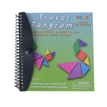 150 Puzzles Magnetic Tangram Kids Toys Challenge Your IQ A Montessori Educational Magic Book Suit For 3-100 Years A Family Gift(China)