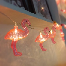 Flamingo lights 10LED string light fairy Party Wedding home decorative 3V AA battery box girl room decoration patio lantern IP20