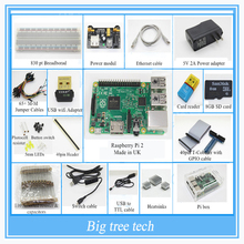 Raspberry Pi 3 Model B 1GB RAM Quad Core 1.2GHz Complete Starter Kit  pi box cable leds breadboard Pi Cobbler Breakout Kit GPIO