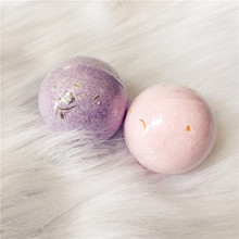 100g Home Hotel Pink Rose Bathroom Bath Ball Bomb Aromatherapy Type Body Cleaner Handmade Bath Salt with Flower Gift