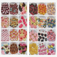 10pcs/lot flat back resin cabochons kawaii resin cake about 20mm resin foods(China)